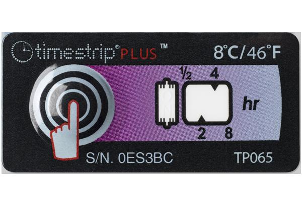 Термоиндикатор химический Timestrip® PLUS для контроля холодовой цепи