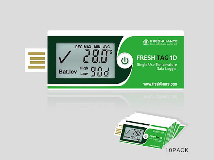 Изображение Логгер температуры Fresh Tag 1D LCD дисплей, USB, PDF (одноразовый)