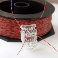 Изображение Проволока пломбировочная витая ПР-Н 0,9мм/100м Нейлон красный+сталь