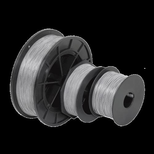 Изображение Проволока пломбировочная витая ПР-Н 0,8 мм600м нейлон прозрачный+сталь