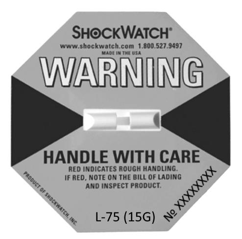 ШОКВОТЧ-ЛЭЙБЛ одноразовый индикатор удара для упаковки L75(15G)